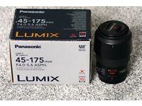 Panasonic H-PS45175E-K 45-175mm f4-5.6 micro four thirds lens.
