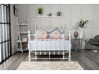 Victoria King Size 5ft White Bed Frame (New) Free Delivery
