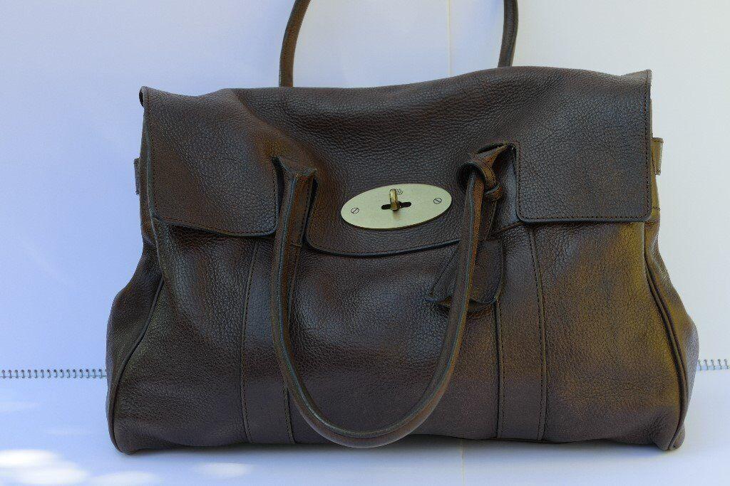 6ea6523082 Genuine Mulberry Bayswater Dark Chocolate Handbag