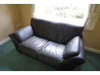 3 & 2 Seater Leather Sofas. Collection Only