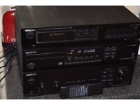KENWOOD 160W STEREO AMP/CD PLAYER REMOTE/TUNER CAN BE SEEN WORKING