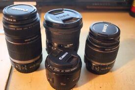 Various DSLR lenses