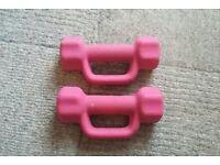 Davina McCall 2kg dumbbells - pink