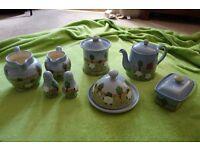 Moorland Bopeep Sheep Rare 8 Piece Pottery set
