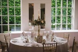 Gold Candelabras Wedding Centrepieces