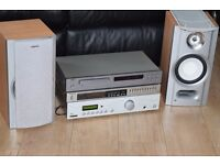 NAD CD/TECHNICS TUNER/ACOUSTIC AMP/AUX IN 150 WATTS CAN BE SEEN WORKING