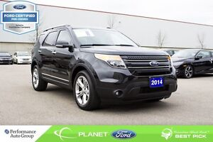 2014 Ford Explorer Limited FORD CERTIFIED LOW RATES & EXTRA WARR