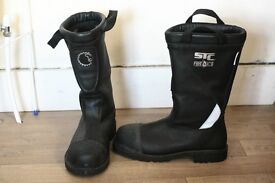 "Men's Size 10 STC Fire & Ice Lion Marshall 14"" Fireman/Construction Worker Boots"