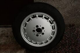 Mercedes-Benz W124 W201 alloy wheel and Goodyear tyre