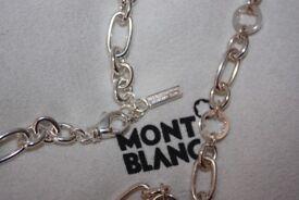 Montblanc silver bracelet with diamond