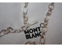 Montblanc silver bracelet with diamond