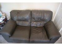 Leather Grey sofas 2 and 3 seater