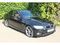 BMW 320d M Sport Coupe - Manual Diesel 1995cc 184bhp engine - 2 door with Black metallic paint