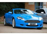 Blue Aston Martin DB9 with bespoke interior for SALE