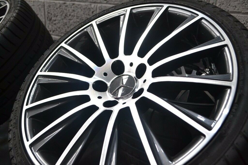 MERCEDES 19 INCH AMG STYLE ALLOYS + TYRES AS NEW CONDITION FIT C,E,A,ML,GL + MOST OTHER MERCEDES