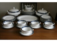 """Quality Royal Doulton Dinner Set Service EXCELLENT Looks Hardly Used """"Sherbrooke"""" Pattern"""