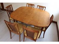 G-Plan Extendable Dining Table & 6 Chairs - For quick sale