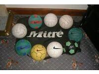 Size 4 footballs & Mitre bag