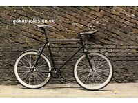 Special Offer GOKU CYCLES Steel Frame Single speed road bike TRACK bike fixed gear fixie bike H1