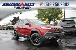 2016 Jeep Cherokee Trailhawk 4X4 Heather Leather Seats Bluetooth