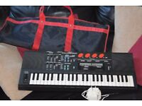 SAISHO MK-800 KEYBOARD/CARRY CASE/POWER ADAPTER CANBE SEEN WORKING