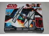 STAR WARS THE LAST JEDI Tie Fighter vehicle (ForceLink activated) inc 3.75-inch PILOT Figure NEW