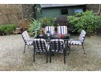 Culcita Lorient 6 Seater Glass Table Garden Set
