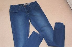 newlook blue skinny jeans age 12