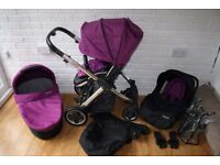 Babystyle Oyster pram travel system 3 in 1 - purple CAN POST