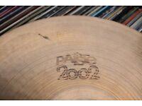 "Paiste 2002 13"" Hi hat Bottom cymbal - Hollow logo - '75"