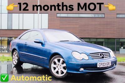 ✅ 2003 Mercedes-Benz CLK 240 Elegance 2dr Coupe Auto *12 MONTHS MOT + HPI CLEAR*