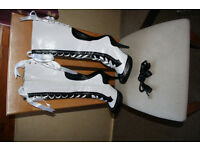 Bordello black and white boots size 5 EU38