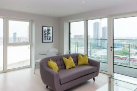 Modern 2bed 1 bath apartment on 12th floor of Cassia point Stratford next Westfiels Glasshouse E20