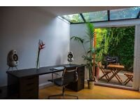 Beautiful tranquil workspace available in Hackney home - hire during the day