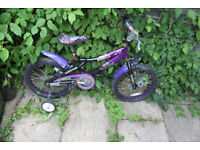 Childs Bike With Stabilisers