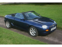 MGF 1.8 NEW MOT, LOW MILES, LOTS HISTORY ,BLUE HOOD, FREE WARRANTY