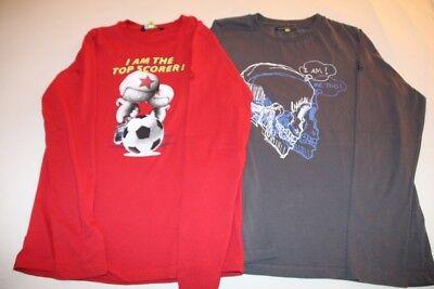 """Lot de 2 T-shirt manches longues, JBC """"I AM"""", taille 164"""