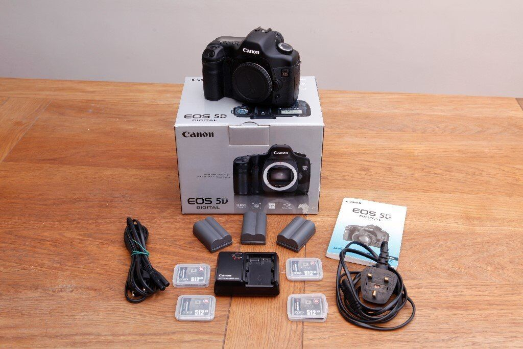 Canon 5D Mk1 in superb conditionin Bournemouth, DorsetGumtree - Loved and cherished from new, light use (hobby only), takes lovely images, canon strap included (not pictured). Cash on collection in person only. Also see my add for the speed grip for this camera