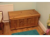 Solid timber childrens toy chest