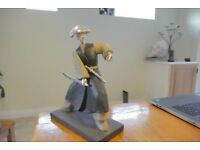Samurai warrior style statue decorative martial art TREAD the Globe