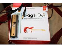 iRig HD-A for android and PC portable pocket guitar amplifier and multi effects