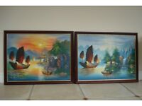 Framed paintings of Thailand Size 760mm x 550mm Excellent Condition, Buyer Collects