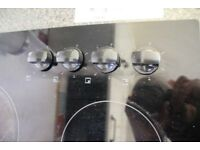 2 separate items, Glass Schott ceran hob & Beko Single Electric Oven for sale