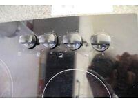 2 separate items, Glass Schott ceran hob & Beko Single Electric Oven for sale