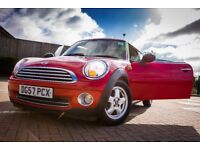 Mini One, (BMW) 2007 (57 REG) Panoramic Sunroof, Service History, Start Stop Feature, Red