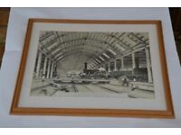 Framed Print of Engine House, Swindon - drawing by J C Bourne (1846)