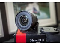 Sigma 20mm F1.8 DG RF AF for Canon fit
