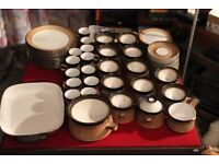 62 pieces Denby Country Cuisine Plates, coffee & tea cups, soup bowls, jug, tureen, gratin dish