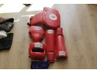 Collection Of Thai Boxing Equipment