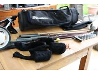 12 Wilson/Synchron/Titleist/Howson Golf Clubs & bag, trolley & Extras -Ladies RH (97cm Irons)